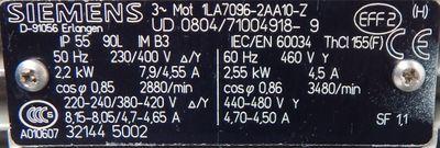 ZIEHL ABEGG Ventilator, Lüfter ER35C-2DN.D7.1R  2,2KW  2850/min  220V - unused - – Bild 2