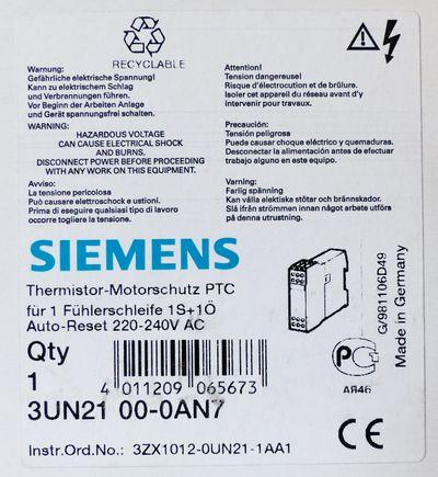 Siemens 3UN2100-0AN7 3UN21 00-0AN7 Thermistor Motorschutz -unused/OVP- – Bild 2