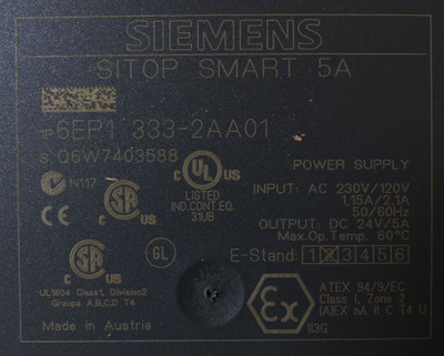 Siemens SITOP 6EP1333-2AA01 6EP1 333-2AA01 Power Supply 5A E-Stand: 02 -unused- – Bild 2