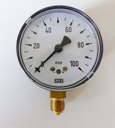 WIKA Monometer 0 - 100mbar -unused/OVP- – Bild 2