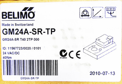 Belimo GM24A-SR-TP GM24A-SR T40 2TP 000 40Nm Klappenstellantrieb -unused/OVP- – Bild 3