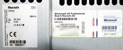 Bosch Rexroth IndraControl V VPP40  VPP 40 DC 24V Industrial PC -used- – Bild 3