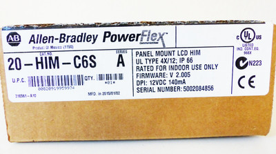 Allen-Bradley 20-HIM-C6S Serie: A FW: V2.005 Panel Mount LCD HIM -unused/OVP- – Bild 2