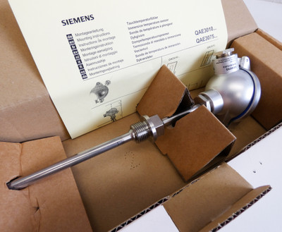 Siemens QAE3010.016  QAE 3010.016 Pt100 16cm Tauchtemp. Sensor -unused/OVP- – Bild 2