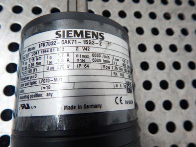 Siemens Servmotor 1FK7032-5AK71-1SG3-Z + LP070-M01-10 - used – Bild 3