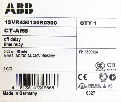 ABB CT-ARS 1SCR430120R0300 0,05s - 10 min 24-240V Zeitrelais -unused/OVP- – Bild 3