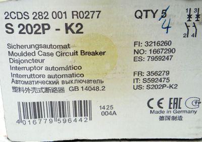 4x ABB Sicherungsautomat S 202P-K2 2CDS 282001R0277 -unused/OVP- – Bild 2