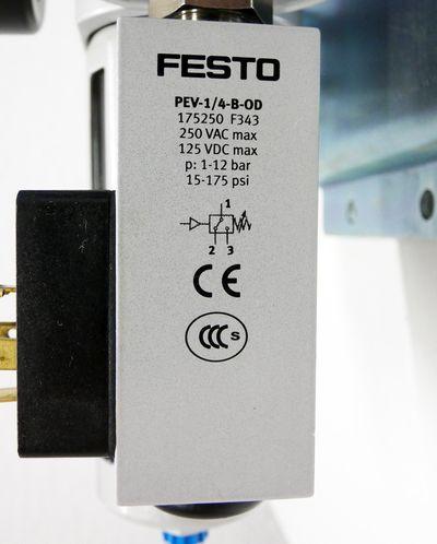 Festo LFR-D-MIDI+HE-..D-MIDI+FRM-..D-MIDI+PEV-1/4-B-00 Wartungseinheit -used- – Bild 5
