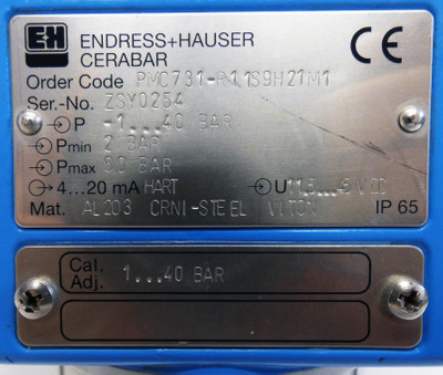 Endress+Hauser Cerabar PMC731-R11S9H21M1 Drucktransmitter -used- – Bild 3