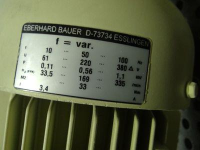 Bauer Gear Motor Eberhard Bauer G12-21/DK84-200L 0,75kW + GBR50GS -unused- – Bild 4