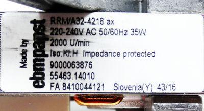 Ebmpapst RRM/A32-4218 ax 2000 U/min 00651461 Gebläsemotor Ventilator -unused/OVP – Bild 3