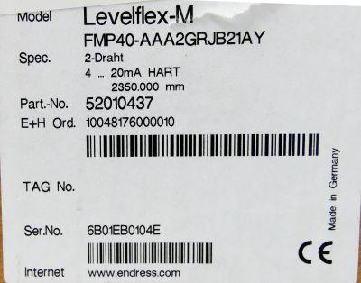 Endress+Hauser Levelflex-M FMP40-AAA2GRJB21AY 52010437 2Draht 2350mm -unused/OVP – Bild 3