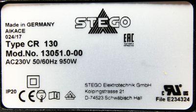 Stego CR 130 CR130 13051.0-00 AC230V 950W Schaltschrankheizung Heizlüfter -used- – Bild 3