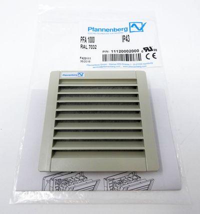 Pfannenberg PFA1000 IP43 RAL7032 P/N:11120002000 Austrittsfilter -unused/OVP- – Bild 1