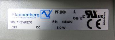 Pfannenberg PF2000A  24V IP54 P/N:11025802030 Filterlüfter -used- – Bild 4