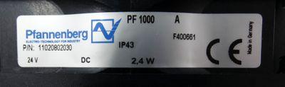 Pfannenberg PF 1000 A PF1000A 24VDC 2,4W IP43 Filterlüfter P/N:11020802030 -used – Bild 4