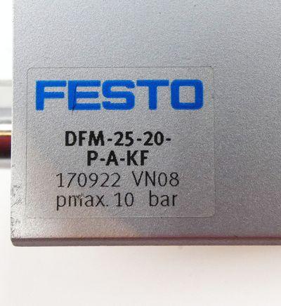 Festo DFM-25-20-P-A-KF  170922 Pmax. 10 bar Führungszylinder -unused- – Bild 3