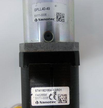 Nanotec ST4118D1804-KGRO1 Schrittmotor + GPLL40-49 Getriebe -used- – Bild 2