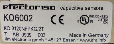 ifm efector150 KQ6002 KQ-3120NFPKG/2T Kapazitiver Sensor -unused/OVP- – Bild 3