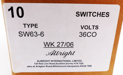 10 x Albright SW63-6 36V CO  Changeover Contactor -unused/OVP- – Bild 3