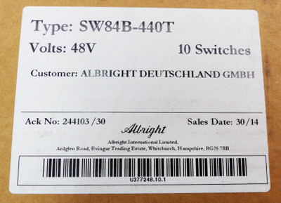 10x Albright SW84B-440T 48V Relais -unused/OVP- – Bild 3