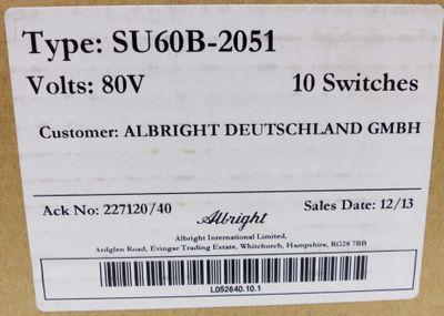 10x Albright SU60B-2051 80V Changeover Contactor -unused/OVP- – Bild 3