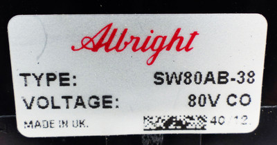Albright SW80AB-38 80V CO Relais -unused- – Bild 3