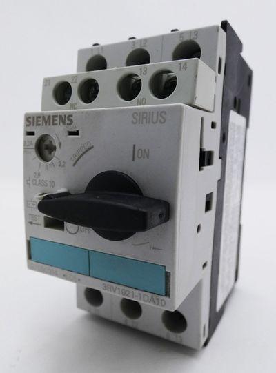 Siemens SIRIUS 3RV1021-1DA10 3RV1 021-1DA10 E:05 Motorschutzschalter -used- – Bild 1