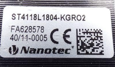 Nanotec ST4118L1804-KGRO2 Schrittmotor + Gysin GPL 032 1/4:1 Getriebe -used- – Bild 2