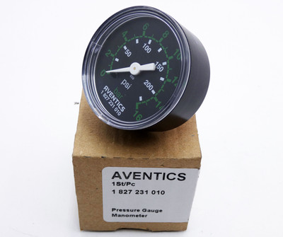 Aventics 1 827 231 010  1827231010 0-16 bar 200psi Manometer -unused/OVP- – Bild 1