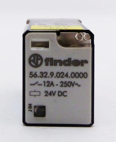 4x Finder 56.32.9.024.0000 24V DC Koppelrelais + 96.72 250V 15A  Sockel -used- – Bild 2