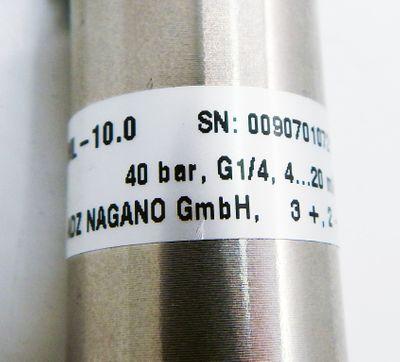 ADZ Nagano ADZ-SML-10.0 40 bar G1/4 4-20mA Drucktransmitter -unused- – Bild 2