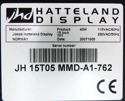 "Jakob Hatteland Display JH 15T05 MMD JH15T05MMD 15"" 115/230VAC 40W -unused/OVP- – Bild 3"