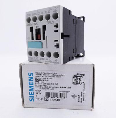Siemens 3RH1122-1BM40 3RH1 122-1BM40 E:05 Hilfsschütz -unused/OVP- – Bild 1