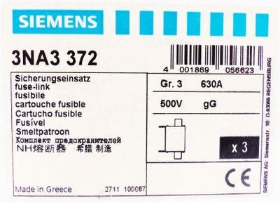 3x Siemens 3NA3 372 3NA3372 630A 500V Sicherungseinsatz -unused/OVP-  – Bild 3