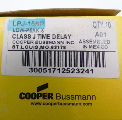 10x Cooper LPJ-15SP Sicherungseinsatz  -unused/OVP-  – Bild 2