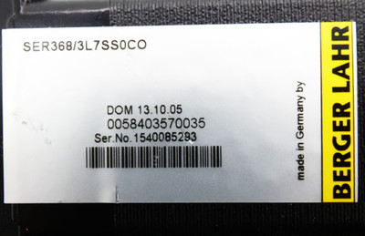 Berger Lahr SER368/3L7SS0CO SER3683L7SS0CO 0,75Nm 0,603kW mit Stecker -used- – Bild 4