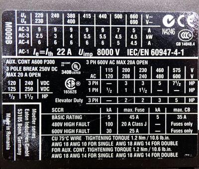 Eaton Moeller DILM9-10 XTCE009B10 220V Schutz + ZB12-2,4 Motorschutzrelais -used – Bild 3