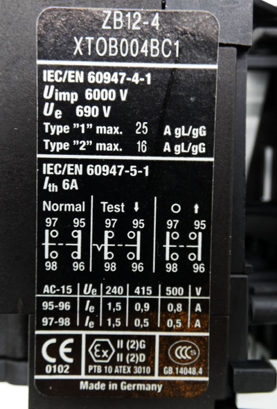Eaton Moeller DILM9-10 XTCE009B10 220V Schutz + ZB12-4  Motorschutzrelais -used- – Bild 4