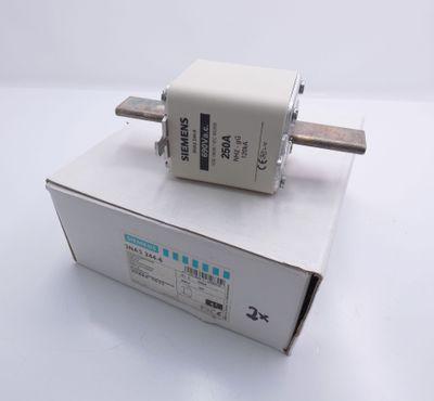 2x Siemens 3NA3 244-6 3NA3244-6 250A -unused/OVP- Sicherungseinsatz – Bild 1