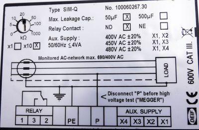 DEIF SIM-Q 1200024118C 120 0024118C 1mA Isolations-Überwachungsanzeiger -used- – Bild 3