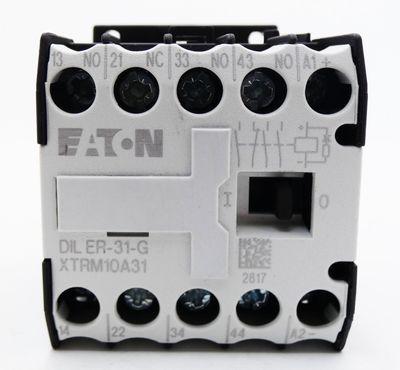2x Eaton Moeller DIL ER-31-G  DILER-31-G XTRM10A31 24VDC  Hilfsschütz -used- – Bild 2