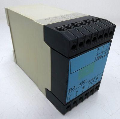 ELA 4201 ELA4201 917077-0008 ca. 50 kOhm 220V 50/60Hz Überwachungsrelais -used- – Bild 1