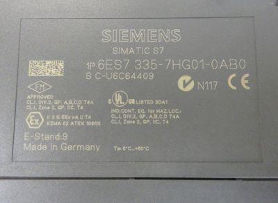 Siemens 6ES7 335-7HG01-0AB0 6ES7335-7HG01-0AB0 E-Stand: 09 -used- + Connector – Bild 2