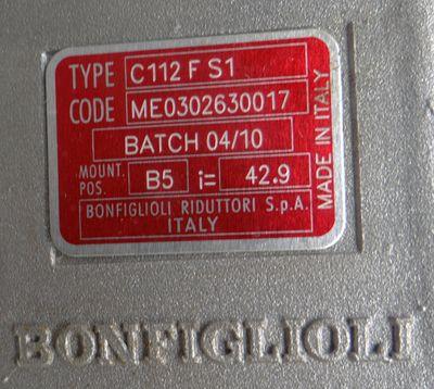 Bonfiglioli MS1A4 8Q10020005-932452 0,25kW + C112FS1 ME0302630017 I=42,9 -unused – Bild 3