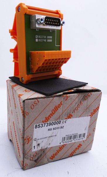 Weidmüller RS SD15 SZ RSSD15SZ 8537390000 Schnittstelle -unused/OVP- – Bild 1