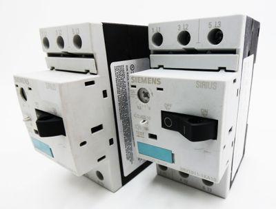 2x Siemens SIRIUS 3RV1011-1KA10 3RV1 011-1KA10 E: 05 Leistungsschalter -used- – Bild 1