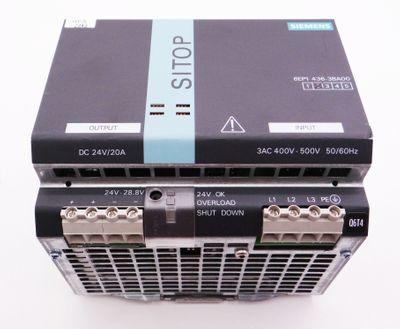 Siemens SITOP Power 20 6EP1436-3BA00 6EP1 436-3BA00 E:02 Power Supply -used- – Bild 2