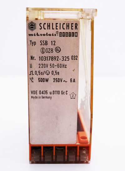 Schleicher SSB 12 / 10317892-325 500W 250V 6A Zeitrelais -used- – Bild 2