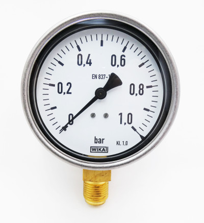 WIKA 212.20.100 21220100 1BAR G1/2B 9061568 EN 837-1 Manometer -unused/OVP- – Bild 2